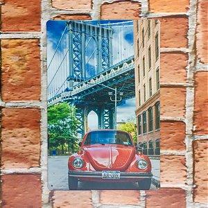 Placa em Metal Vintage de VW Fusca 30cm x 20cm Fusca7