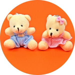 Mini Ursinhos de Pelúcia para Lembrancinhas - 10 unid