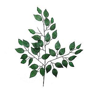 Galho de Folha de Ficus 12 Unidades
