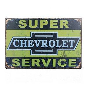 Placa em Metal Vintage Garagem 30cm x 20cm Garage5