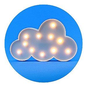 Luminária de Nuvem Branca com LED - Tamanho 29X19cm