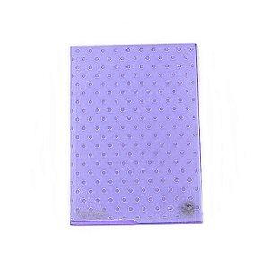 Placa de Textura Emboss 13 cm x 18 cm Poá Bolinhas