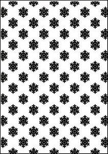 Placa de Textura Emboss A4 Flocos de Neve