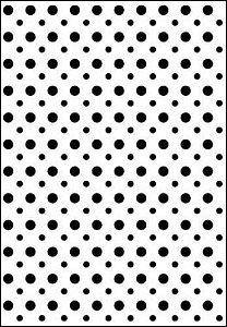Placa de Textura Emboss 10,6cm x 15cm Poá Bolinhas