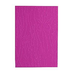 Placa de Textura Emboss 10,6 cm x 15 cm Borboletas