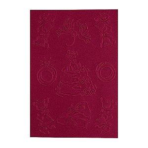 Placa de Textura Emboss 10,6 cm x 15 cm Casamento