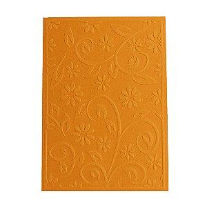 Placa de Textura Emboss 10,6 cm x 15 cm Flor de Cabo Longo