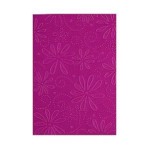 Placa de Textura Emboss 10,6 cm x 15 cm Flor Margarida com Coração