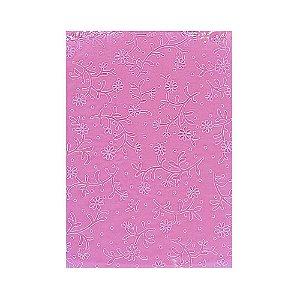 Placa de Textura Emboss 10,6 cm x 15 cm Mini Flor