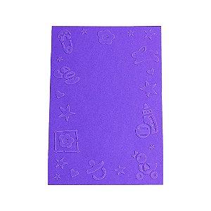 Placa de Textura Emboss 10,6 cm x 15 cm Moldura Baby