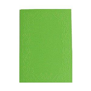 Placa de Textura Emboss 10,6cm x 15cm Moldura Quadrada