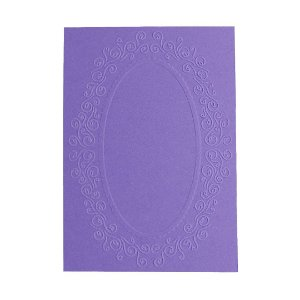 Placa de Textura Emboss 10,6 cm x 15 cm Moldura Redonda