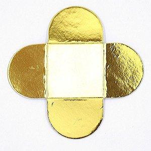 50 Unidades Forminhas Para Doces Dourada Metalizada