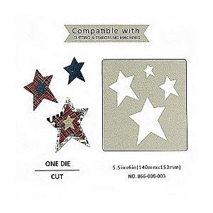 Placa de Corte em Metal - Modelo Estrelas Sunlit