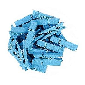 Mini Pregadores Azul - Tamanho 3,5 cm - 50 unidades