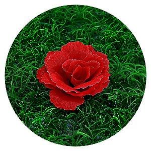 Botão Rosa Vermelha 7cm sem haste - 50 unidades