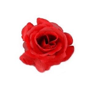 Botão de Rosa Vermelha Colombiana Grande 8cm - 10 Unidades
