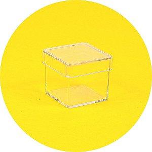 Caixinha em acrílico 3 x 3 cristal - 50 Unidades