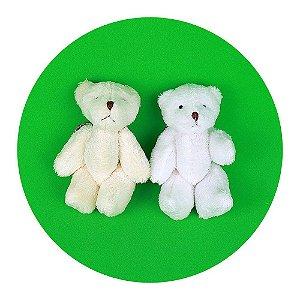 Mini Ursinhos em Pé Branco 10cm Chaveiro 50 Unidades