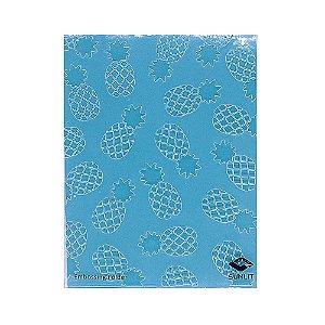 Placa de Textura Emboss 10,6 cm x 15 cm Abacaxi