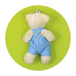 Mini Ursinho em Pé Macacão Azul 12cm 5 unidades