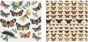 Papel para Scrapbook Desenhos 30,5x30,5 Art0190 Butterflies