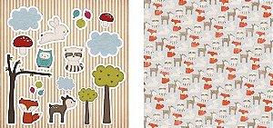 Papel para Scrapbook Desenhos 30,5x30,5 Art0001 Foxy 1