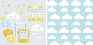 Papel para Scrapbook Desenhos 30,5x30,5 Art0003 Nuvem