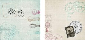 Papel para Scrapbook Desenhos 30,5x30,5 Art0007 Ferramentas