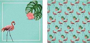 Papel para Scrapbook Desenhos 30,5x30,5 Art0013 Flamingo