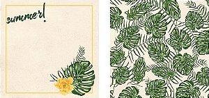 Papel para Scrapbook Desenhos 30,5x30,5 Art0014 Folha de Adão