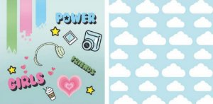 Papel para Scrapbook Desenhos 30,5x30,5 Art0021 Girl Power