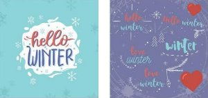 Papel para Scrapbook Desenhos 30,5x30,5 Art0169 Hello Winter