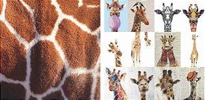 Papel para Scrapbook Desenhos 30,5x30,5 Art0178 Girafas