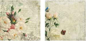 Papel para Scrapbook Desenhos 30,5x30,5 Art0181 Love Flowers