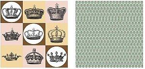 Papel para Scrapbook Desenhos 30,5x30,5 Art0187 Crowns