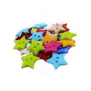 Botões Decorados para Artesanato Estrela 30 Unidades