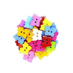 30 Unidades Botões Decorados para Artesanato Borboleta