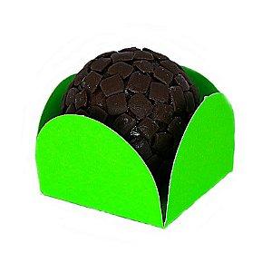 Forminha para Doce 4 pétalas Verde Clara com fundo de celofane 200 Unidades