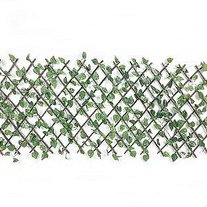 Treliça em Madeira com Folhas de Hera Artificial Pequena 2 Unidades