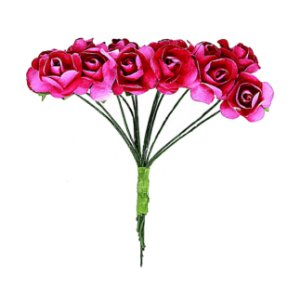 Mini Rosa de Papel Pink 72 Unidades