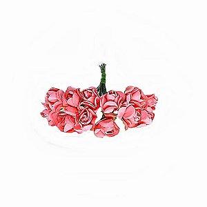Mini Rosa de Papel Salmão 72 Unidades