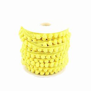 Fita Grelot Pompom 6 mm Amarelo 9,14 m