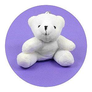 Mini Ursinho Sentado Branco 8cm 10 Unidades