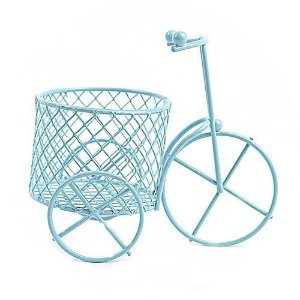 Mini Triciclo Aramado Azul Claro 12 Unidades