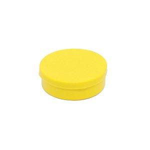 Latinha em plástico redonda Amarela 100 Unidades