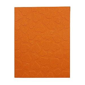 Placa de Textura Emboss 10,6 cm x 15 cm Estampa Coração
