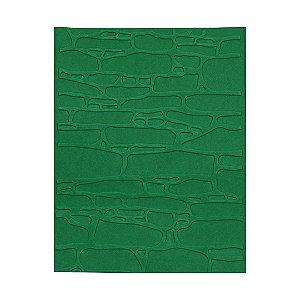 Placa de Textura Emboss 10,6 cm x 15 cm Parede Rústica