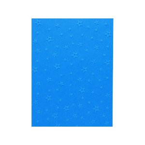 Placa de Textura Emboss 10,6 cm x 15 cm Estrela 2D