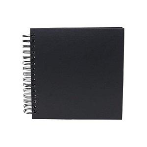 Álbum de Assinaturas e Scrapbook Preto Pequena 40 Páginas